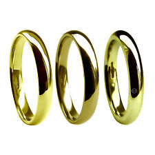 4mm 18ct Yellow Gold Wedding Rings Court Comfort UK HM 750 Med Hvy X Heavy Bands