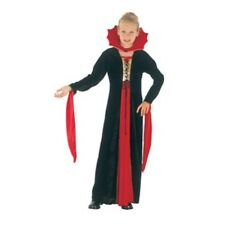 Childrens Girls Gothic Vampiress Costume for Halloween Dracula Fancy Dress