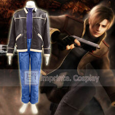 Resident Evil 4 Leon Kennedy Faux Leather Cosplay Costume Full Set FREE P P dea2b08ecab1