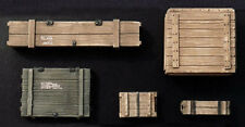 1/35 Scale WWII US storage boxes - Caisses de transport US WWII (5 parts) - Set