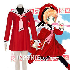 Cardcaptor Sakura Red Dress Sakura Kinomoto Cosplay Costume Full Set FREE P&P