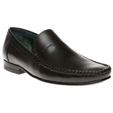 New Mens Ted Baker Black Simeen 2 Leather Shoes Loafers And Slip Ons On