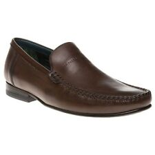 New Mens Ted Baker Brown Simeen 2 Leather Shoes Loafers And Slip Ons On