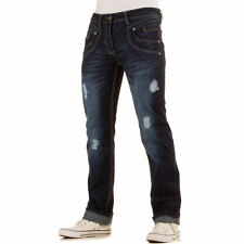 LUXUS NEU DESIGNER HERREN jv5s REGULAR FIT DESTROYEDJEANS Blau 0€