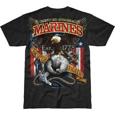 7.62 Design Usmc Fighting Eagle Battlespace Marines Militare Top T-Shirt