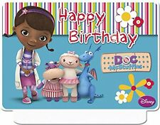 Happy Birthday Disney Doc McStuffins Candle Party Giant Moulded Cake Candle