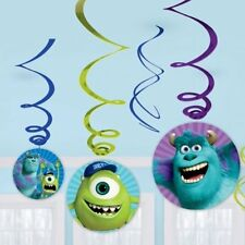 6/12/18 Disney Monsters inc University Party Cutouts Hanging Swirls Decorations