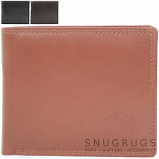 Mens Soft Leather Stylish Bi-Fold Wallet with Multiple Features