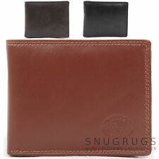 Mens Soft Leather Bi-Fold Money Wallet with Multiple Features