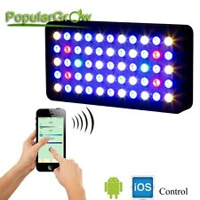 PopularGrow Wifi 3 Channel Dimmable165W LED Aquarium Light Fish Tank Reef Coral