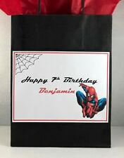 Superheros vs Villains personalized party/gift/loot bags!Lots of characters!!!