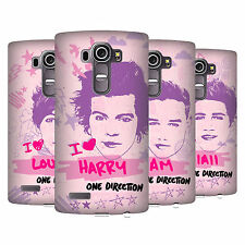 OFFICIAL ONE DIRECTION 1D  PINK GRAPHIC FACES HARD BACK CASE FOR LG G4