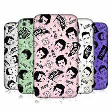 OFFICIAL ONE DIRECTION DOODLE FACE PATTERNS HARD BACK CASE FOR APPLE iPHONE 3GS
