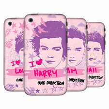 OFFICIAL ONE DIRECTION PINK GRAPHIC FACES HARD BACK CASE FOR APPLE iPHONE 3GS