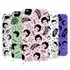 OFFICIAL ONE DIRECTION DOODLE FACE PATTERNS HARD BACK CASE FOR APPLE iPHONE 4S