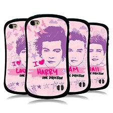 OFFICIAL ONE DIRECTION 1D  PINK GRAPHIC FACES HYBRID CASE FOR APPLE iPHONE 4