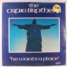 CRAIG BROTHERS: He Wants A Place LP Sealed Black Gospel