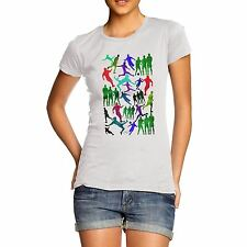 Twisted Envy Women's Soccer Football Silhouettes Short Sleeve T-Shirt