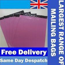 Pink Mailing Bags *UK Made Virgin Plastic* Post Postage Strong Self Seal Mailers
