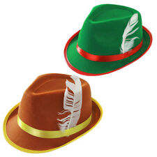 BAVARIAN HAT OKTOBERFEST GERMAN FANCY DRESS COSTUME ACCESSORY MENS LADIES UNISEX