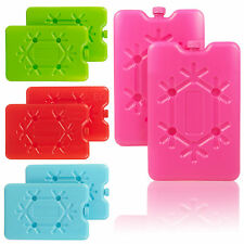 2 x Freezer Ice Blocks Travel Cooler Bag Box Reusable Picnic Lunch Camping Cold