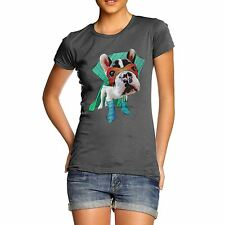 Twisted Envy Women's Super Hero French Bulldog 100% Organic Cotton T-Shirt