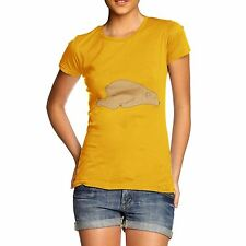 Twisted Envy Women's Sleeping Silly Bear 100% Organic Cotton T-Shirt