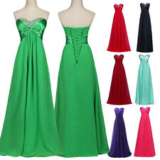 Clearence~ TOP Long Wedding Evening Formal Party Ball Gown Prom Bridesmaid Dress