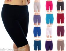 Womens Cotton Shorts Cycling Dance Leggings 1/2 Length All Sizes & Colours