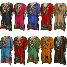 DASHIKI DRESS KAFTAN - AFRICAN TRIBAL PONCHO - MEXICAN HIPPIE FESTIVAL SHIRT