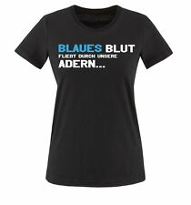Comedy Shirts | HAMBURG | BLAUES BLUT... | Damen T-Shirt