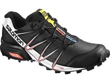 Scarpe Trail Running SALOMON SPEEDCROSS PRO UK 12.5 EU 48 black white bright red