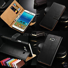 Genuine Real Leather Slim Wallet Flip Stand Case Cover for Samsung Galaxy ACE 3