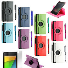 Rotante a 360 Smart Custodia Cover per 2012 2013 Google Nexus 7 Asus 1st 2nd Tab
