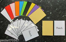 Colours and Word match flash cards available in 2 sizes SEN~Autism~EYFS~Schools~