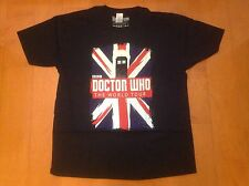 DOCTOR WHO - OFFICIAL BBC TOP T SHIRT - TARDIS WORLD TOUR - ADULT RRP £14.99