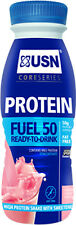 USN Protein Fuel 50 6 X 500ml HUGE 50G Protein Low Carb Fat Ready To Drink Shake