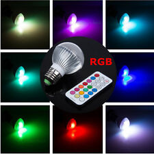 3W E27 Led RGB Color Changing Bombillas Bulb Light Ceiling Spotlight + IR Remote
