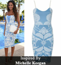 CELEBRITY INSPIRED BLUE LADIES WOMENS SLEEVELESS BODYCON MIDI DRESS PLUS SIZE