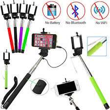 Universal Monopod Selfie Stick Telescopic Wired Remote Mobile Phone Holder
