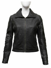 Brandslock Womens Genuine Leather Biker Jacket Vintage Distressed