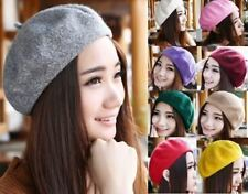 Vintage Unisex Women Men French Style Wool Beret Beanie Hat Cap 15 Colors