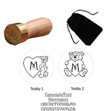 New Teddy Bear With Your Initial Designs 22mm Wax Seal Stamp - Free UK p&p