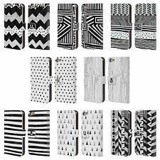 HEAD CASE DESIGNS BNW DOODLE LEATHER BOOK WALLET CASE COVER FOR APPLE iPOD TOUCH