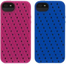 Genuine Griffin FlexiGrip Punch Rubber SoftShell Case for iPhone 5/5S Blue Pink