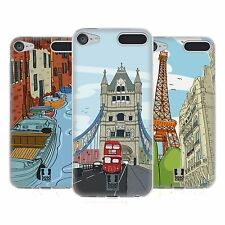 HEAD CASE DOODLE CITIES SERIES 2 SOFT GEL CASE FOR APPLE iPOD TOUCH 6G 6TH GEN