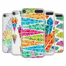 HEAD CASE GEOMETRIC FEATHERS SOFT GEL CASE FOR APPLE iPOD TOUCH 6G 6TH GEN
