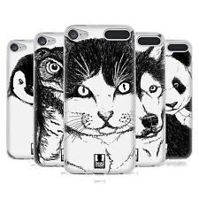 HEAD CASE HAND DRAWN ANIMALS SOFT GEL CASE FOR APPLE iPOD TOUCH 6G 6TH GEN