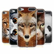 HEAD CASE ANIMAL FACES SERIES 1 SOFT GEL CASE FOR APPLE iPOD TOUCH 6G 6TH GEN