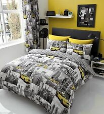 New York Patchi Duvet Set Quilt Cover Pillow Case Bedding Sets All Sizes